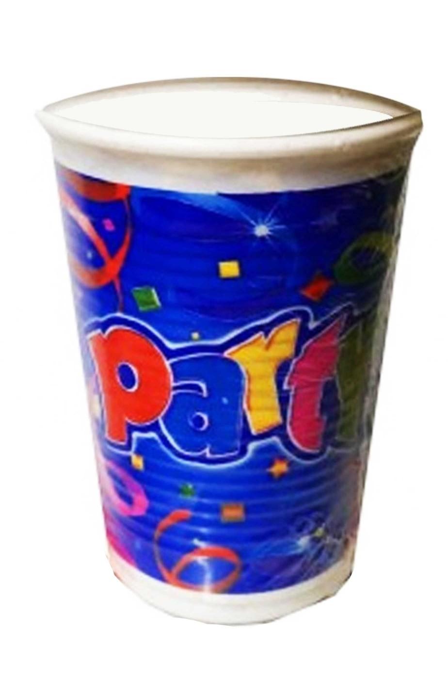 Blu Party Bicchieri di carta acqua o vino blu 8pzx266ml