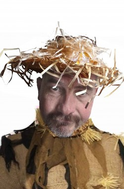 Cappello spaventapasseri di paglia adulto