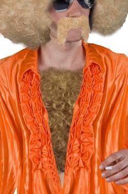 Pelo finto per il petto villoso marrone