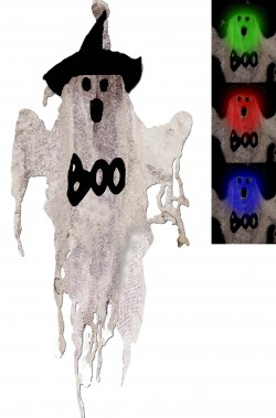 Allestimento halloween fantasma da appendere che si illumina Boo