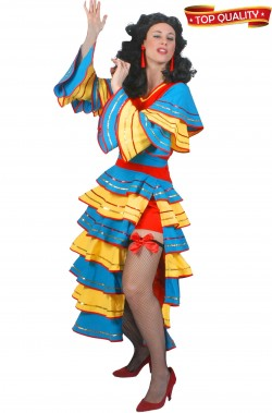 Costume da ballerina Brasiliana Spagnola flamenco donna adulta