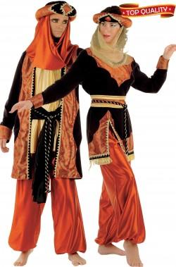 Coppia di costumi principi indiani sultano e sultana