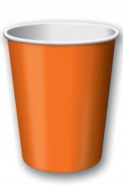 Set10  bicchieri in carta party arancione ml.266