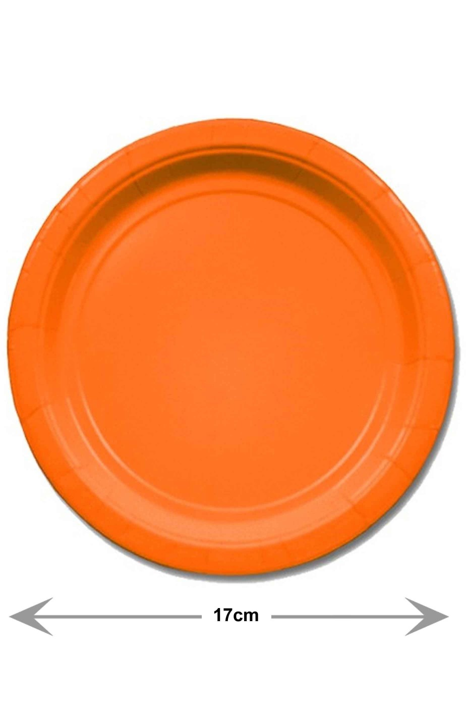 Piatti di carta arancioni da party da dessert 8 piatti, 17cm