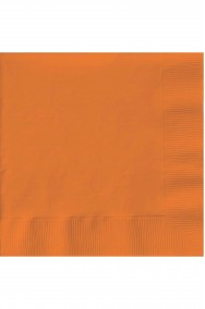 Set 20 tovaglioli di carta party arancione 33x33