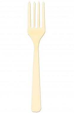 Vaniglia party Forchette di plastica color vaniglia 24 pezzi