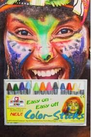 Trucco makeup carnevalesco palette matite colorate di cera 12 colori