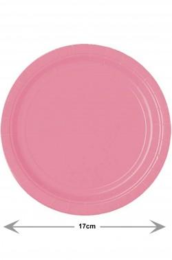 Party rosa piatti di carta piani confezione da 8, 17cm
