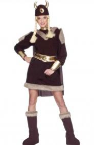 Costume donna vichinga o barbara primitiva