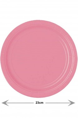 Party rosa piatti di carta piani rosa confezione da 8. 23cm