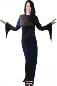 Costume Madame Morticia o Malefizia in spandex aderente splendido