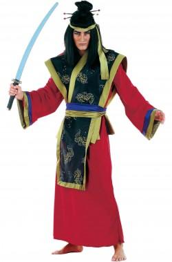 Costume di carnevale da samurai giapponese uomo adulto