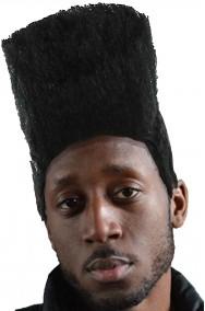 Parrucca da pappone rapper anni 70 riccia nera