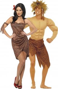 Coppia di costumi di Carnevale adulto Tarzan e Jane