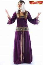 Costume Stile medievale Lady Marian di Robin Hood bordeaux