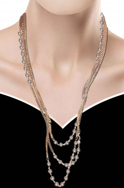 Collana color oro filo di perle finte in stile anni 30 o 40