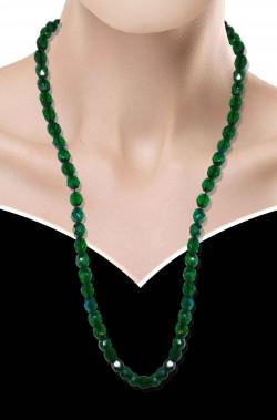 Collana di finti smeraldi verdi