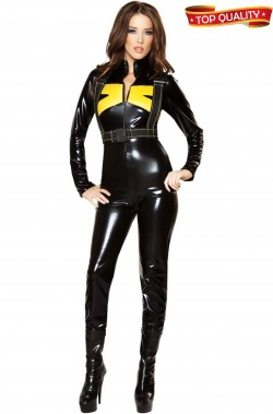 Costume cosplay donna tuta nera de luxe in stile X Men