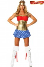 Costume donna Wonder Woman American Lady