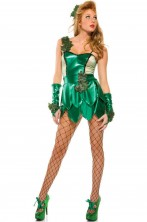 Costume Poison Ivy o Elfa corto cosplay sexy