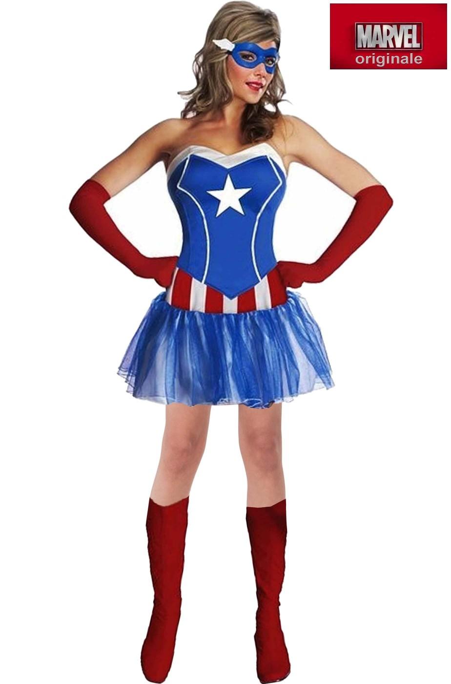Costume Capitan America da donna The Avengers Marvel