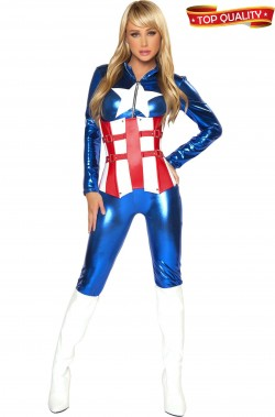 Costume Cosplay Capitan America donna Top Quality