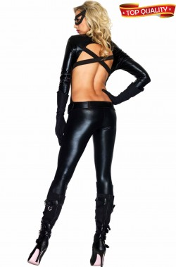 Costume donna catwoman cosplay alta qualita