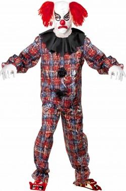 Gobbo Mostro Maschera Con Parrucca Halloween Zombie Horror FANCY DRESS