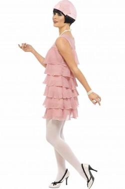 Vestito di carnevale donna anni 20 rosa Bonnie and Clyde