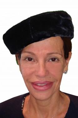 Cappello da donna anni 40 nero a tamburello