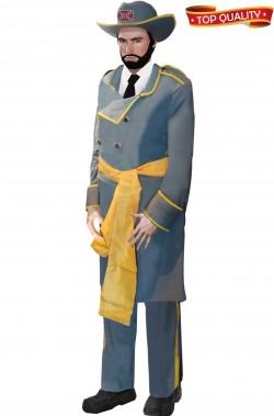 Costume da ufficiale o generale sudista americano adulto