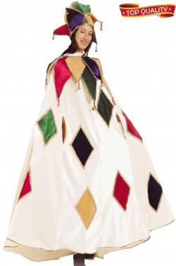 Costume del Carnevale Veneziano Giullare di Corte arlecchinata bianca