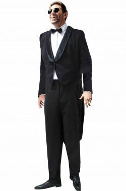 Costume frac uomo Charlie Chaplin Charlot o Penguin