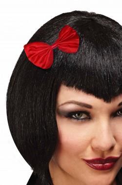 Fiocco rosso per capelli farfallino Biancaneve