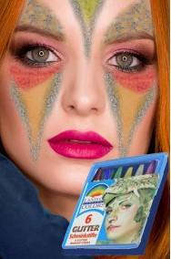 Trucco set brillantini colorati su matita di cera trasparente per makeup