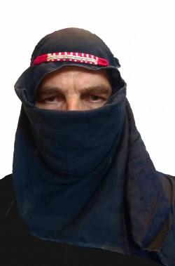 Cappello nero da arabo Sceicco Tuareg