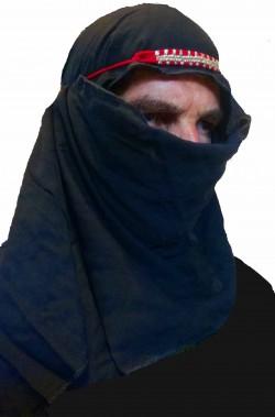 Cappello da sceicco arabo nero Sharif