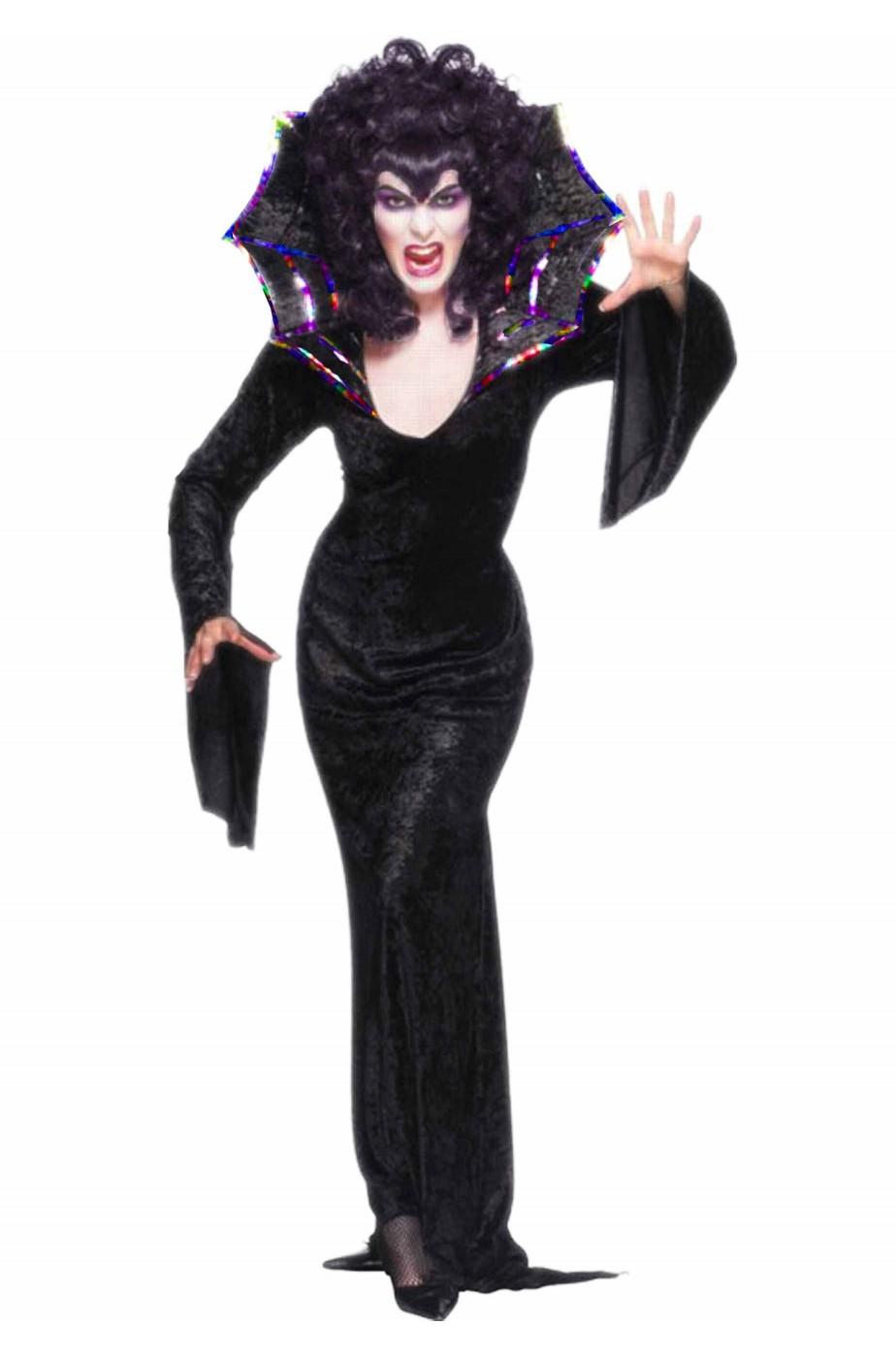 Costume donna Regina Ragno Morticia Cobra