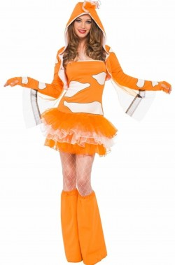Costume Donna Pesce Pagliaccio Nemo
