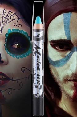 Matita Colorata Azzurra trucco viso e corpo Halloween e Carnevale