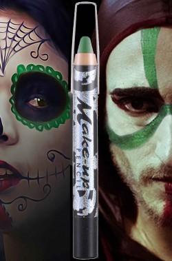 Matita Colorata Verde per trucco viso o corpo Dia de Los Muertos