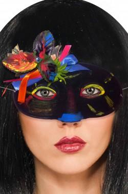 Maschera da viso nera Dia de los muertos