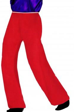 Pantaloni uomo rossi con elastico in vita