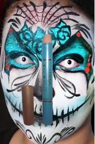 Trucco matita ombretto glitter azzurro eye artist l'oreal