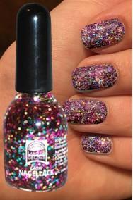 Smalto per unghie arcobaleno con brillantini Glitter 15 ml