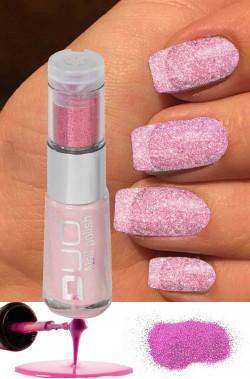 Smalto per unghie brillantini Duo rosa da applicare su smalto rosso 8ml