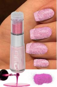 Smalto per unghie brillantini rosa da applicare su smalto rosso 8ml