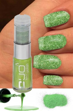 Smalto per unghie brillantini Duo verdi da applicare su smalto verde 8ml