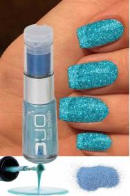 Smalto per unghie con brillantini azzurro nailart duo con polvere glitter