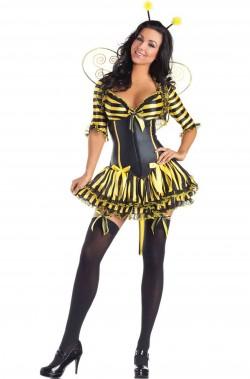 Vestito di carnevale da ape donna adulta rinforzato